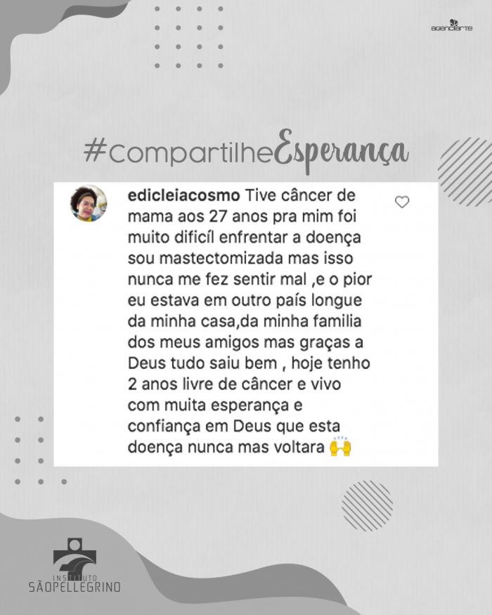 #CompartilheEsperança: Edicleia Cosmo