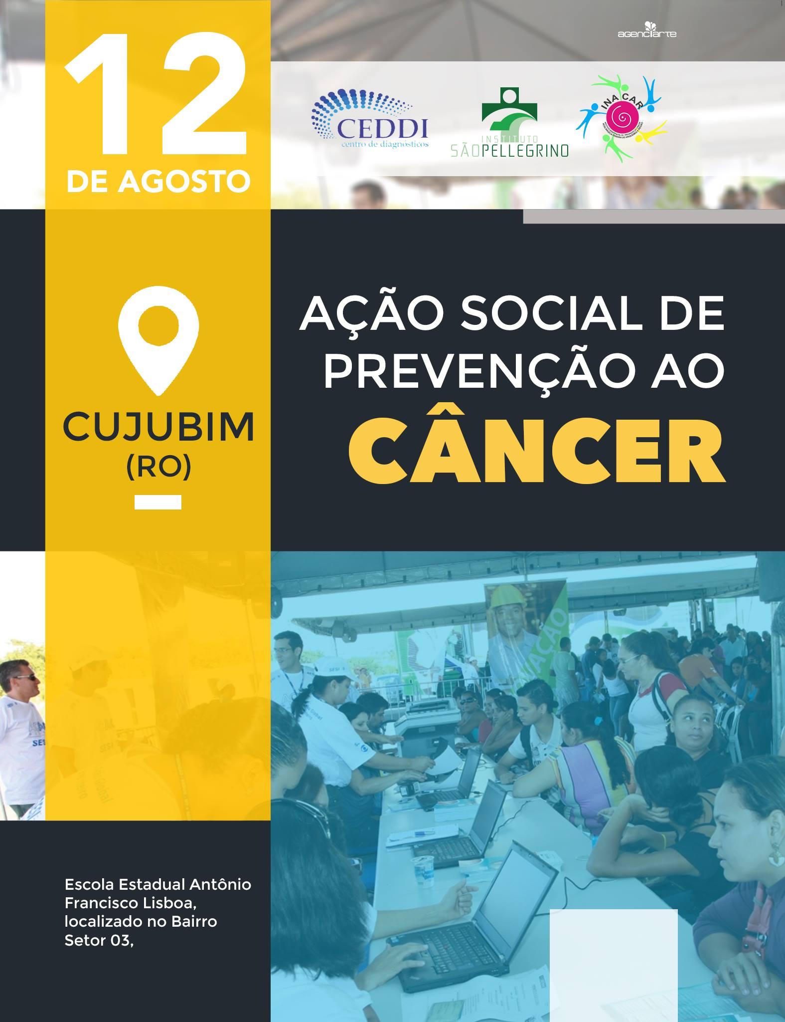 CUJUBIM RECEBE AÇÃO SOCIAL DE PREVENÇÃO AO CÂNCER